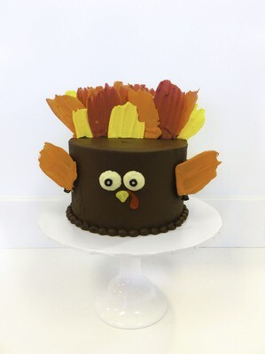 Turkey Feathers Cake