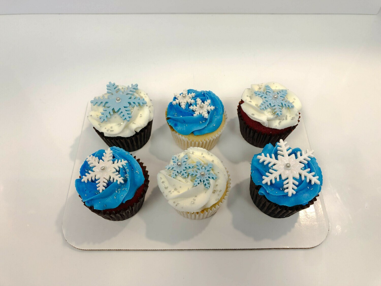 Snowflake 6 Pack Cupcakes