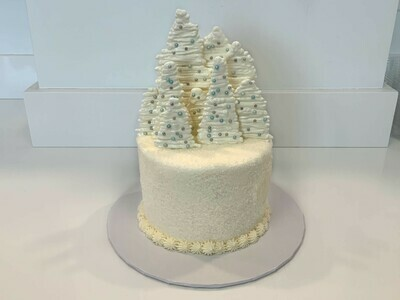 White Winter Forest Cake
