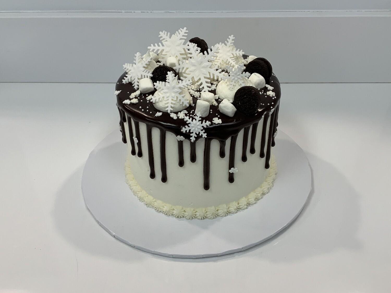 Snowflake Drip Cake
