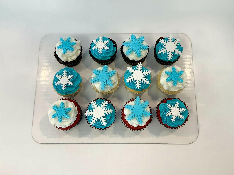 Snowflake Dozen Cupcakes