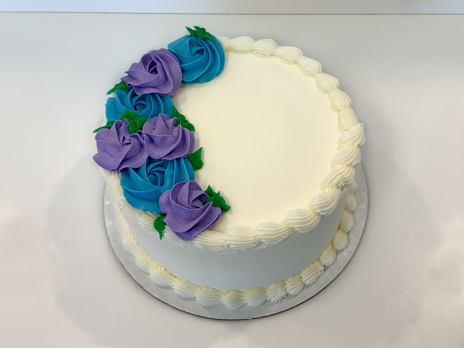 Rosette Spray Decorated Cake
