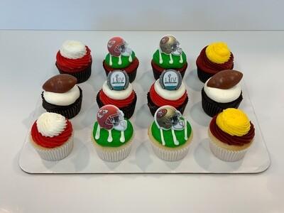 Super Bowl Dozen Cupcakes
