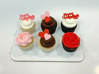 Valentine's Day Assortment Half Dozen Cupcakes