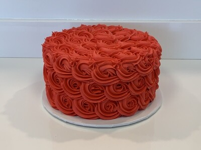 Rosette Decorated Cake