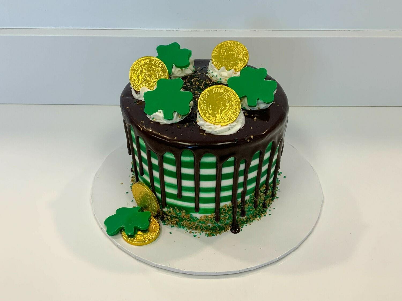 Shamrock Drip Cake