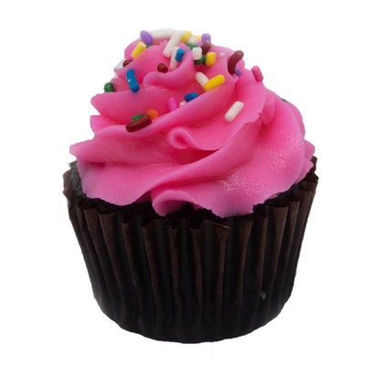 Chocolate Pink Cloud Cupcake