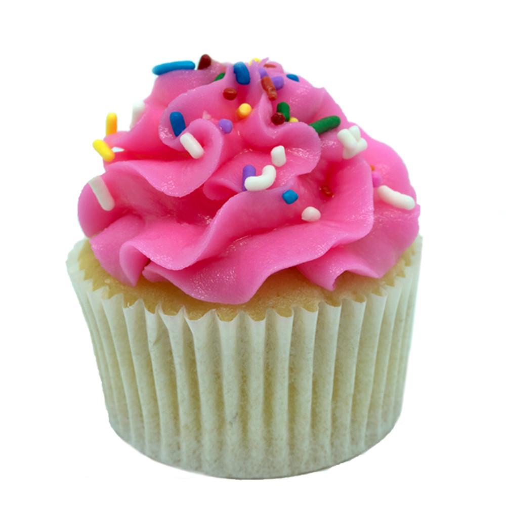 Vanilla Pink Cloud Cupcake