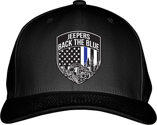 Jeepers Back the Blue Flexfit Hat