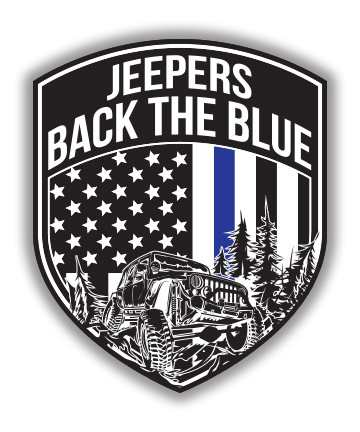 Jeepers Back the Blue Decal