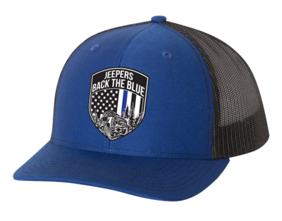 Jeepers Back the Blue Snapback Hat | Royal/Black