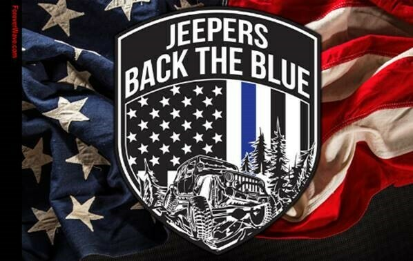 3x5' Jeepers Back the Blue Flag