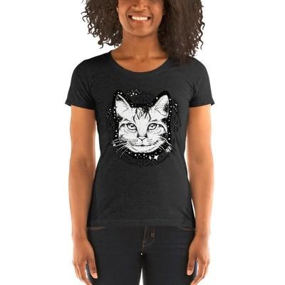Ladies' short sleeve t-shirt Spacecat