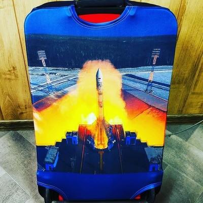 Чехол на чемодан со своим принтом