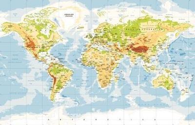 Флаг Карта мира
