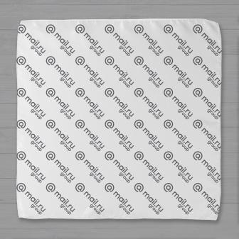 Шейный платок брендированный логотипом