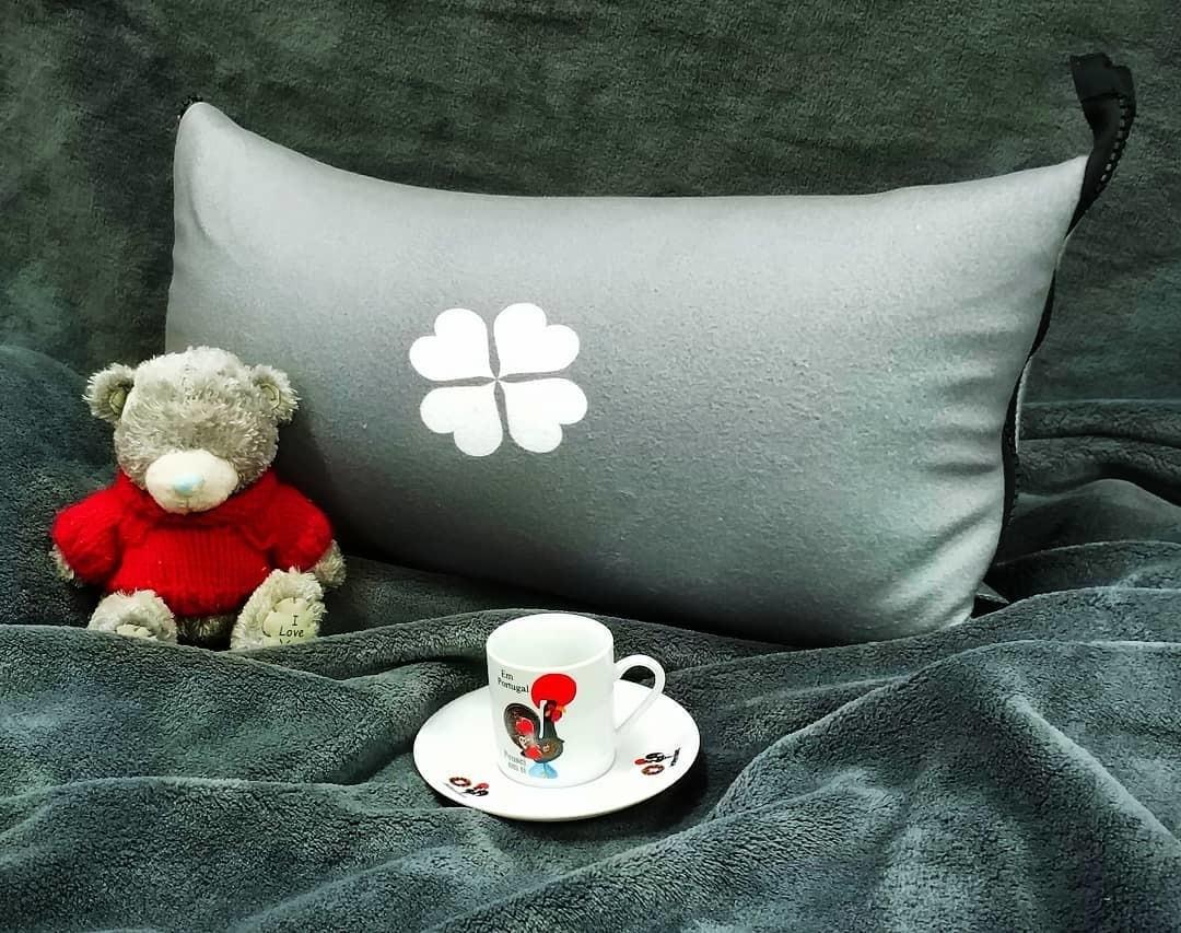 Плед подушка с логотипом велсофт