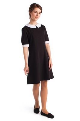 Школьное платье с воротником