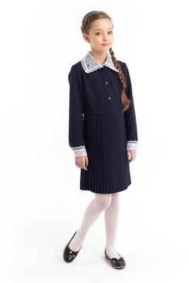 Платье школьное с воротником