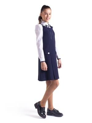 Школьный сарафан синий