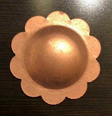 Concho Blank, Scalloped, Base Metals:  Stainless Steel, Brass, Copper & Steel