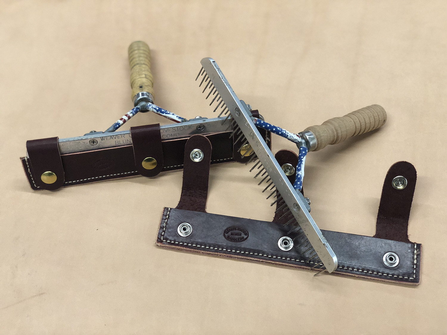 Leather Comb Cover