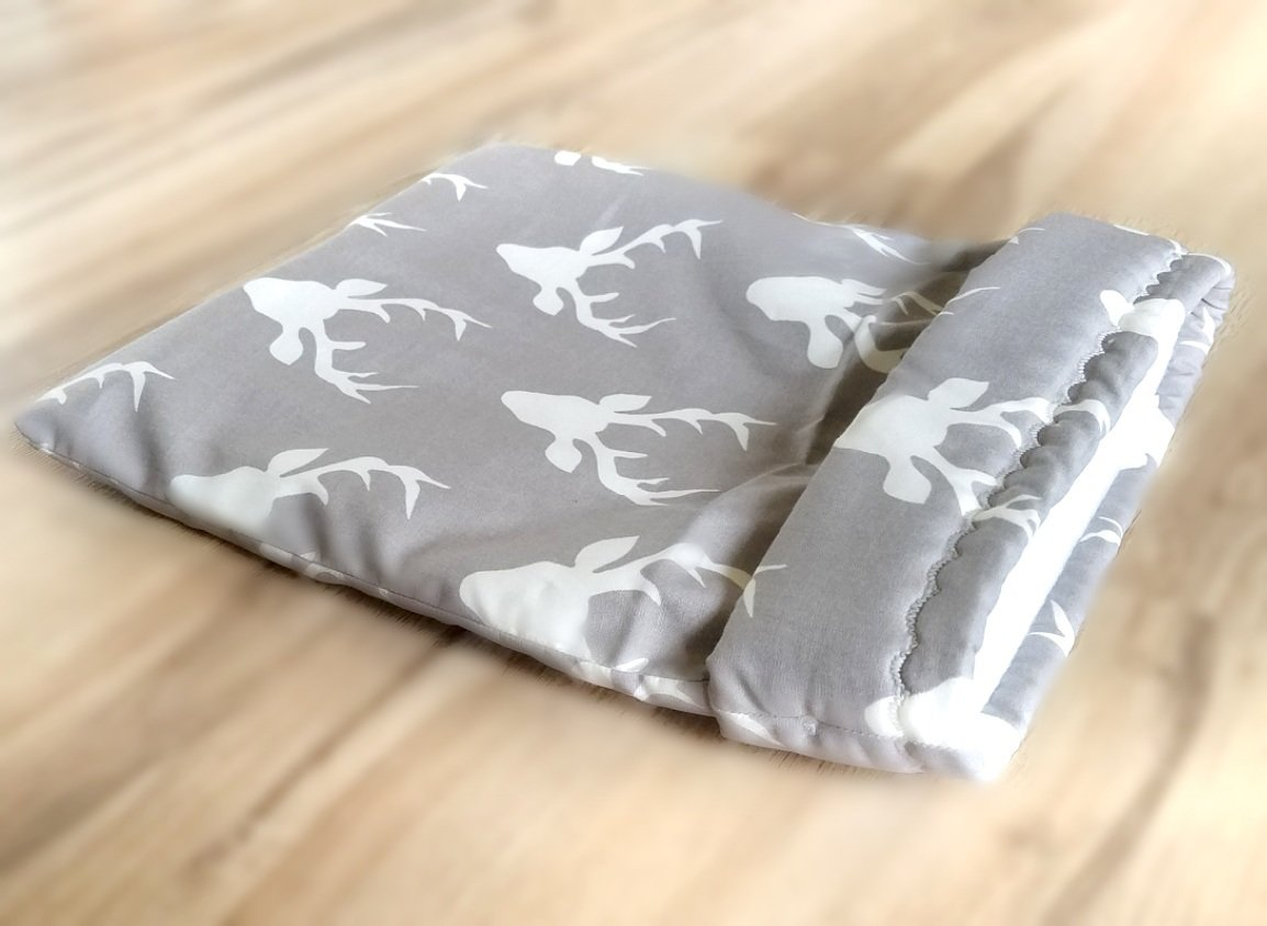 Up North Rustics & Co.™ Small Animal Sleep Sack | Bucks on Grey