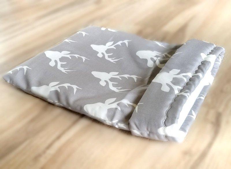 Up North Rustics & Co.™ Small Animal Sleep Sack   Bucks on Grey