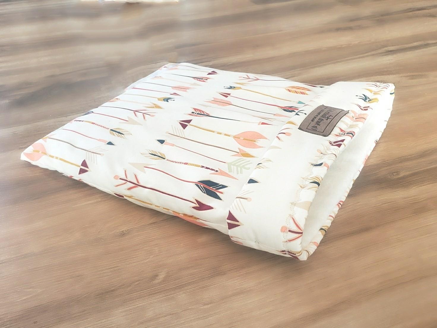 Up North Rustics & Co.™ Small Animal Sleep & Snuggle Sack | Multi- Colored Arrows on Tan