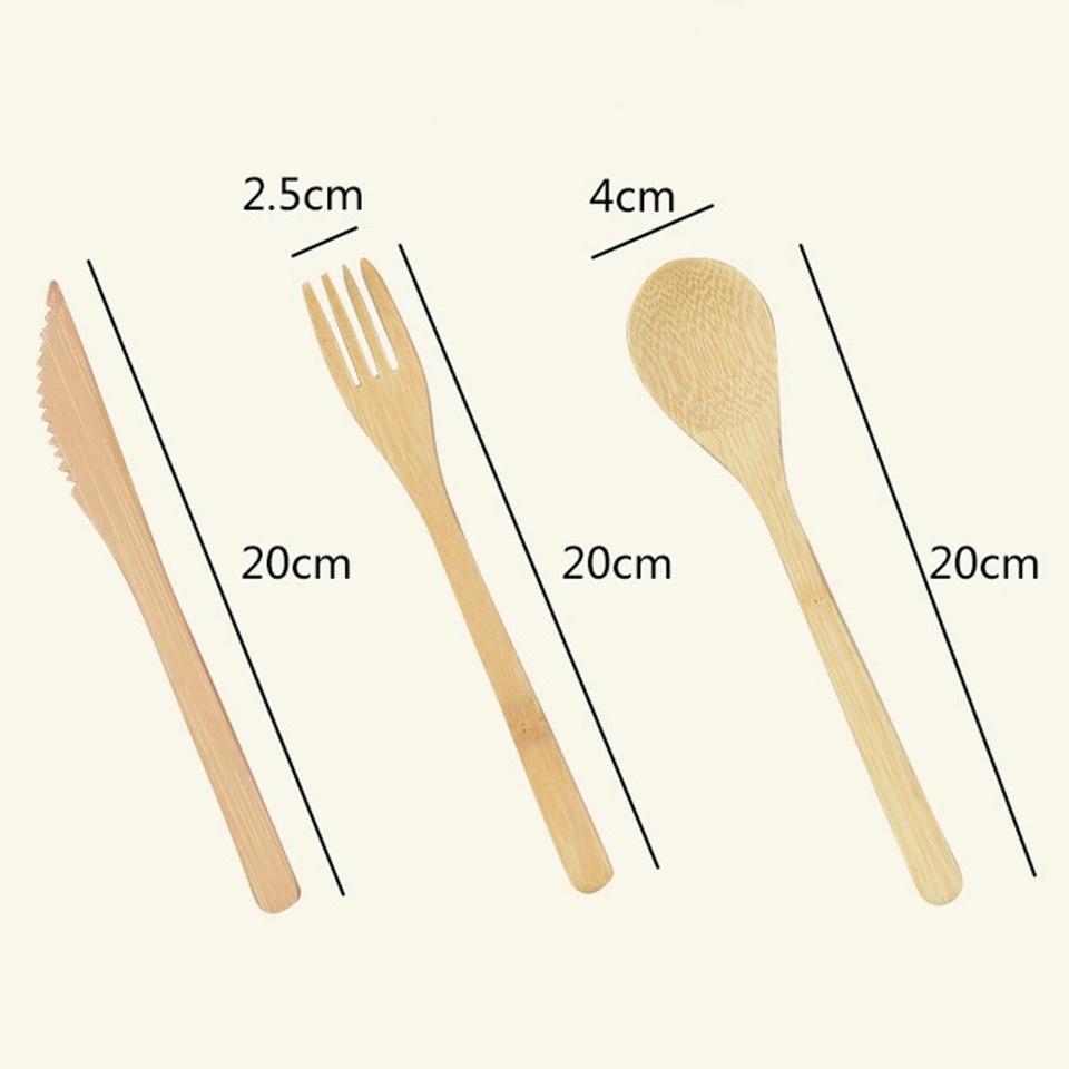 Traveler's Eco-Friendly Bamboo Utensil Kit