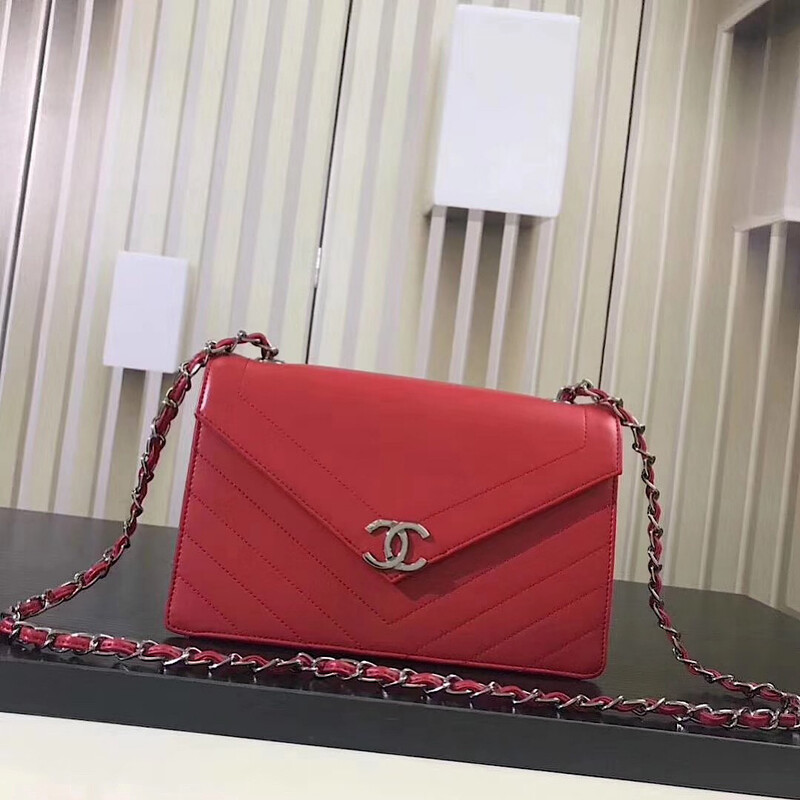 NEW LEATHER RED STYLISH PURSE