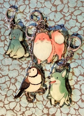 Animal acrylic charms (discounted)