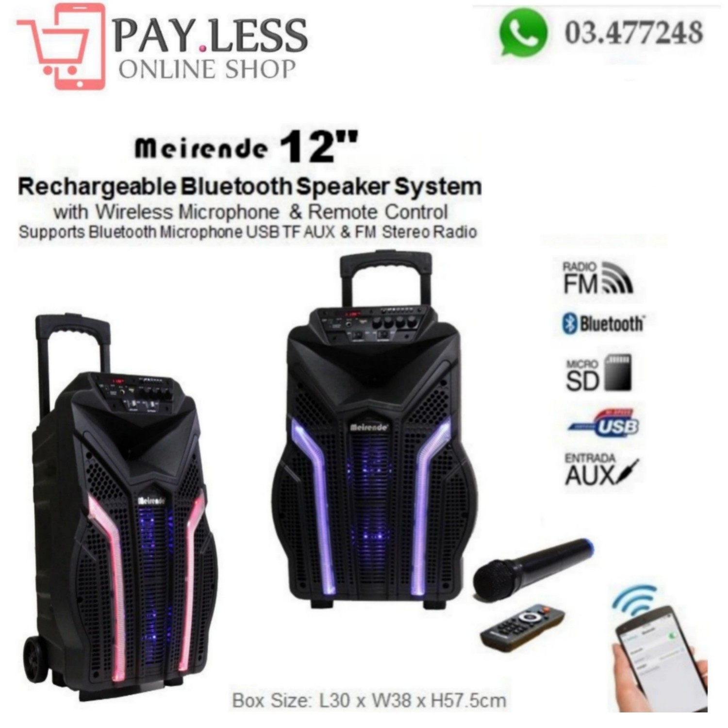 Rechargeable Bluetooth Speaker System 12