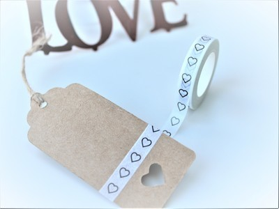 Outline Heart Washi Tape 8mm