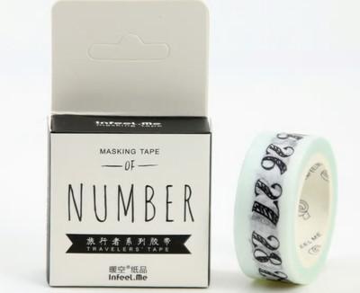 Number Line Washi Tape 15mm