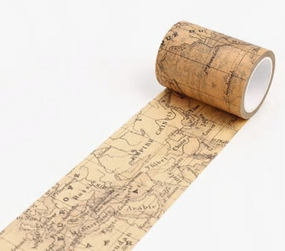Vintage World Map Washi Tape 60mm