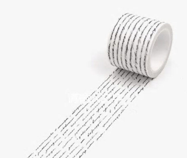 Vintage Handwriting Washi Tape 30mm