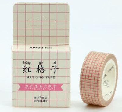 Red Check Washi Tape 15mm