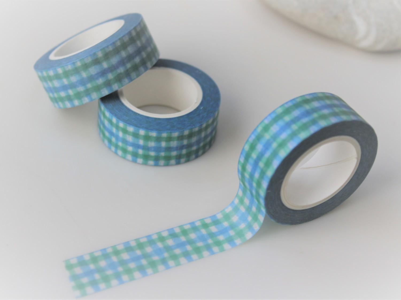 Blue Check Washi Tape 15mm