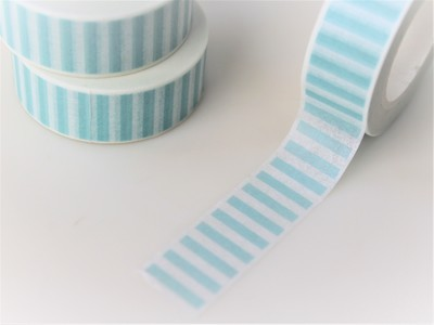 Blue Striped Washi Tape 15mm
