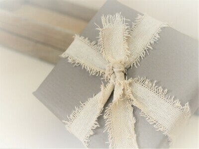 Natural Linen Ribbon with Frayed Edge 2m