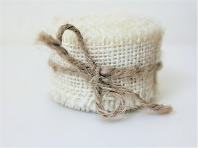 Ivory Hessian Ribbon