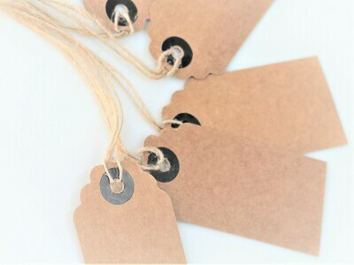 Kraft Scalloped Luggage Tags