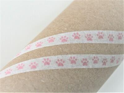 Pink Paws Washi Tape 8mm