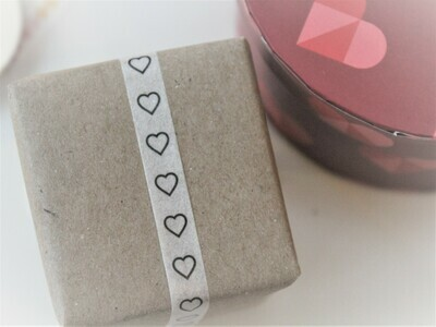 Outline Heart Washi Tape 8mm