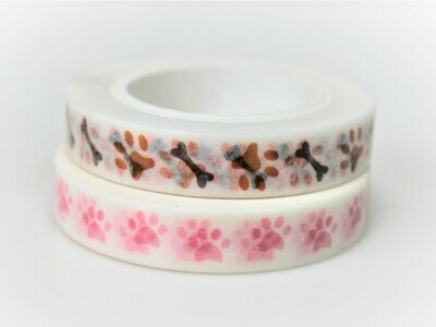 Pet Paws Washi Tape 8mm