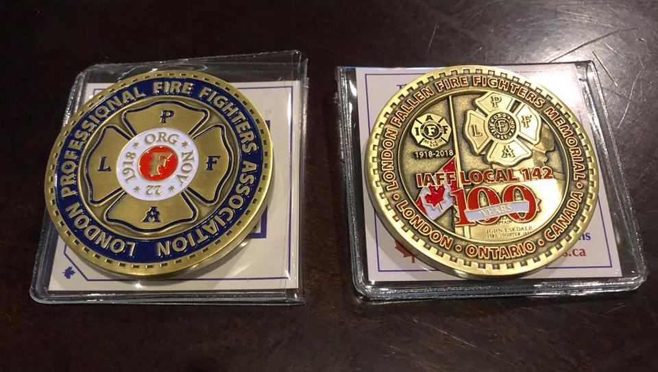 LPFFA 100th Anniversary Challenge Coin - QTY (5 Coin Pack) LPFFA100Pack5