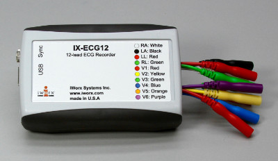 12 Lead ECG Recorder (LabScribe Software NOT included)