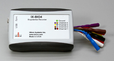 4 Channel Biopotential Recorder with LabScribe Software