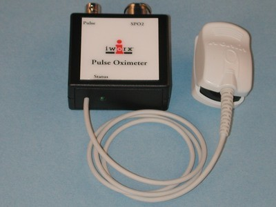 Pulse Oximeter for use with iWorx amplifiers - finger sensor